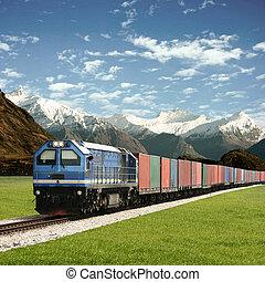 pociąg, fracht