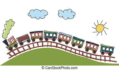 pociąg, próbka