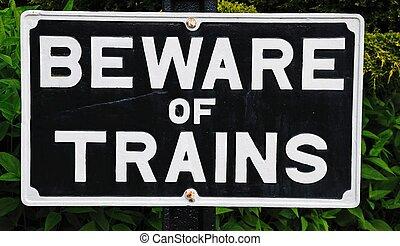 pociągi, poznaczcie., strzec się