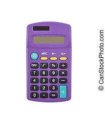 Pocket calculator on white background
