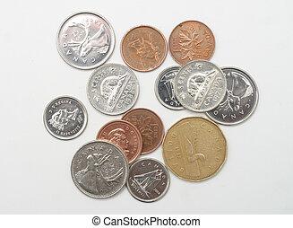 pocket change - Still of Canadian coins.