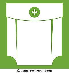 Pocket design icon green