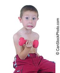 Pocket Hercules 8 - Boy lifting weights