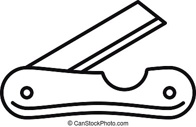 Pocket knife icon, outline style