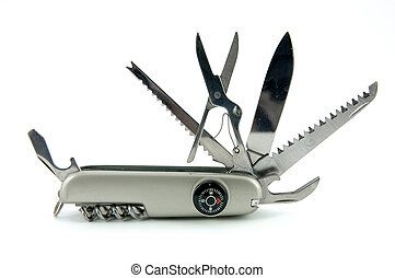 Pocket knife in isolated white