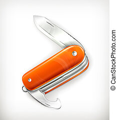 Pocket knife, vector