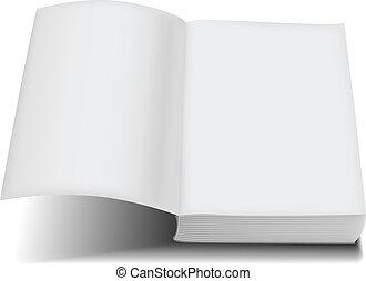 pocket, mank lopen, boek, voorkant, open, pagina