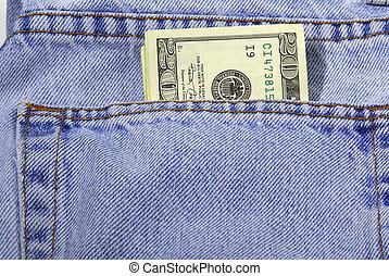 Pocket Money - Mney in Pants Pocket