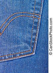 Pocket of jeans.