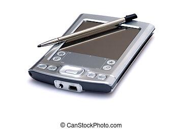 Pocket PC - Palm on Isolated background
