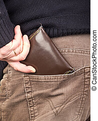 pocket - hand taking wallet from the pocket