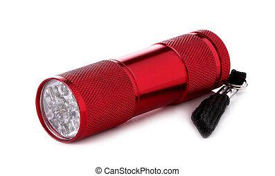 Flashlight, isolated on white background.