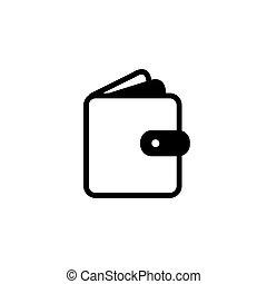 pocket, wallet flat icon vector illustration
