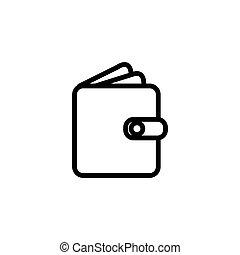 pocket, wallet line icon vector illustration