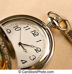 Pocket watch isolated