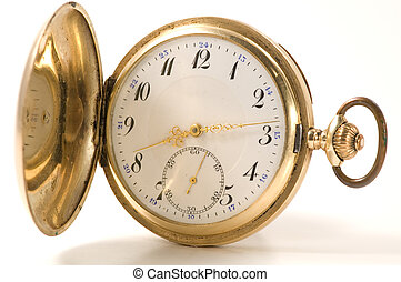 Pocket watch - Old pocket watch in gold