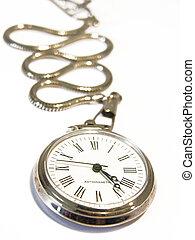 Pocket watch isolated on white background