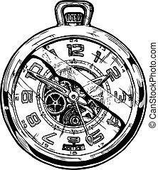 pocketwatch, ilustración