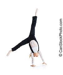 poco, bailarín de ballet clásico, marca, voltereta lateral