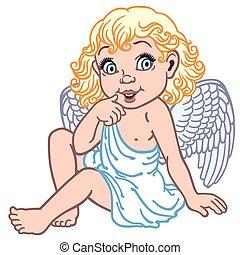 poco, cartone animato, angelo