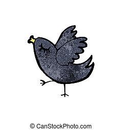 poco, cartone animato, uccello