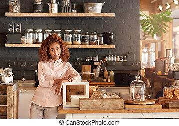 poco, construido, Arriba,  café, mi, suelo