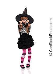 poco, costume halloween, ragazza