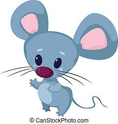poco, divertido, ratón