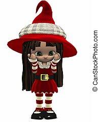 poco, elf-toon, navidad, figura