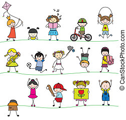 poco, gruppo, childrens