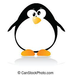 poco, ilustración, pingüino