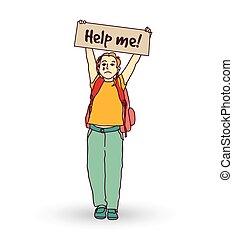 poco, llanto, niña, niño, pregunte, help.