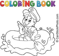 poco, marinaio, tema, coloritura, 1, libro