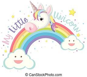 poco, mi, arco irirs, unicornio