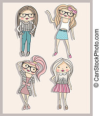 poco, moda, ragazze