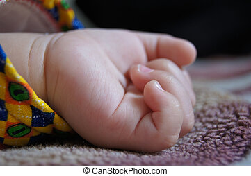 poco, niño, mano