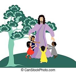 poco, niños, amores, jesús