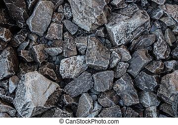 poco, piedras, trailside, gris