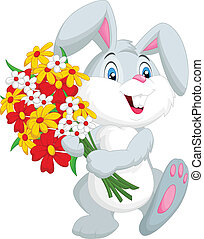 poco, presa a terra, coniglio, carino, cartone animato
