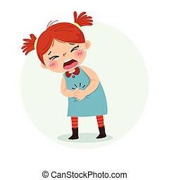 poco, problemas, ilustración, sufrimiento, vector, concept...