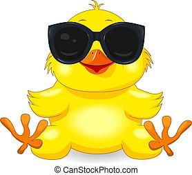Pulcino uccello dei cartoni animati u vettoriali stock ozerina