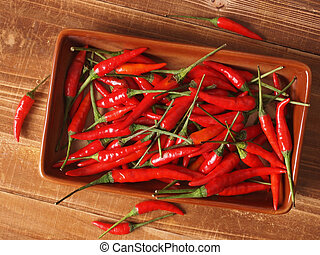 poco, rojo, chiles