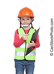 poco, trabajador industrial, niña