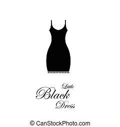 poco, vestido, negro