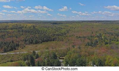 Pocono Mountains Pennsylvania USA range landscape - Mountain...