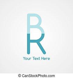 początkowy, rr, litera, logotype