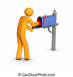poczta, dostając