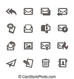 poczta, ikony