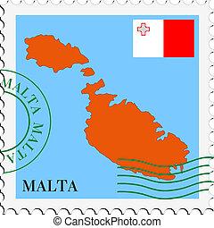 poczta, to/from, malta