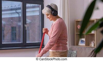 podłoga, zamaszysty, starowina, janowiec, słuchawki